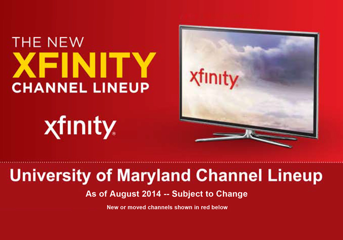Big Ten Network is now available on UMD campus - View Channel Lineup