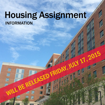 housing assignments Housing assignments will be released beginning may 1, 2018.
