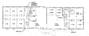 Typical Traditional Floor Layout - Wicomico Hall