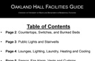 Oakland Hall Facilities Guide