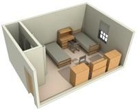 Typical Layout of a Double Room