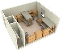 Typical Layout of a Quad Room