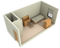 Typical Layout of a Single Room