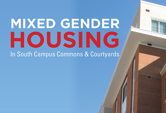 Mixed Gender Housing in South Campus Commons and the Courtyards