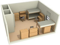 Typical Layout of a Triple Room